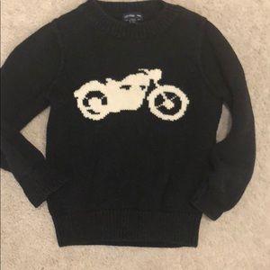 Baby gap boys black motorcycle sweater 2T